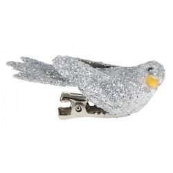 Oiseau pailleté sur clip
