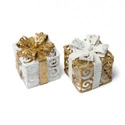 Paquet cadeau étincelant paillette 7 cm