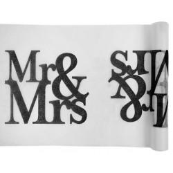 Chemin de table Mr & Mrs