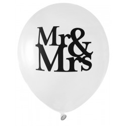 8 Ballons Mr & Mrs