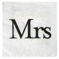20 Serviettes Mr & Mrs