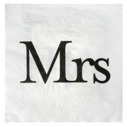20 Serviettes Mr & Mrs