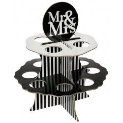 Présentoir Mr & Mrs 12 boules de 5 cm