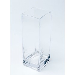 Vase en verre carre