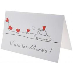 10 Cartes Vive les mariés