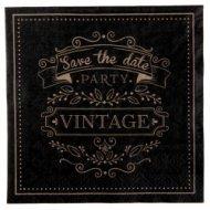 20 Serviettes Vintage