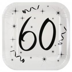 Assiettes 60 ans