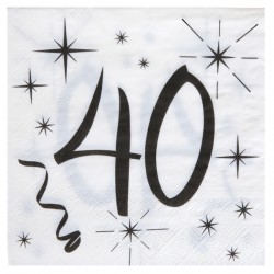 20 Serviettes 40 ans