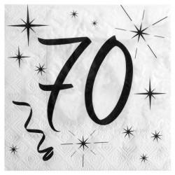 20 Serviettes 70 ans