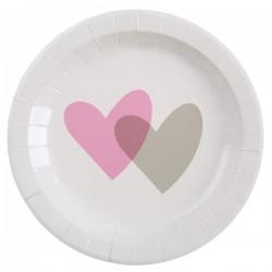 10 Assiettes coeurs