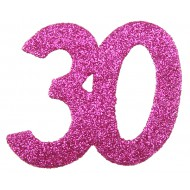 6 Confettis pailleté Anniversaire 30 ans