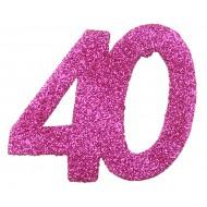 6 Confettis pailleté Anniversaire 40 ans