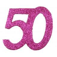 6 Confettis pailleté Anniversaire 50 ans