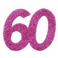 6 Confettis pailleté Anniversaire 60 ans