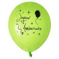 8 Ballons Joyeux Anniversaire