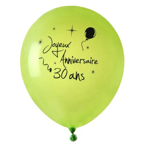 8 Ballons Joyeux Anniversaire 30 Ans Fete La Deco