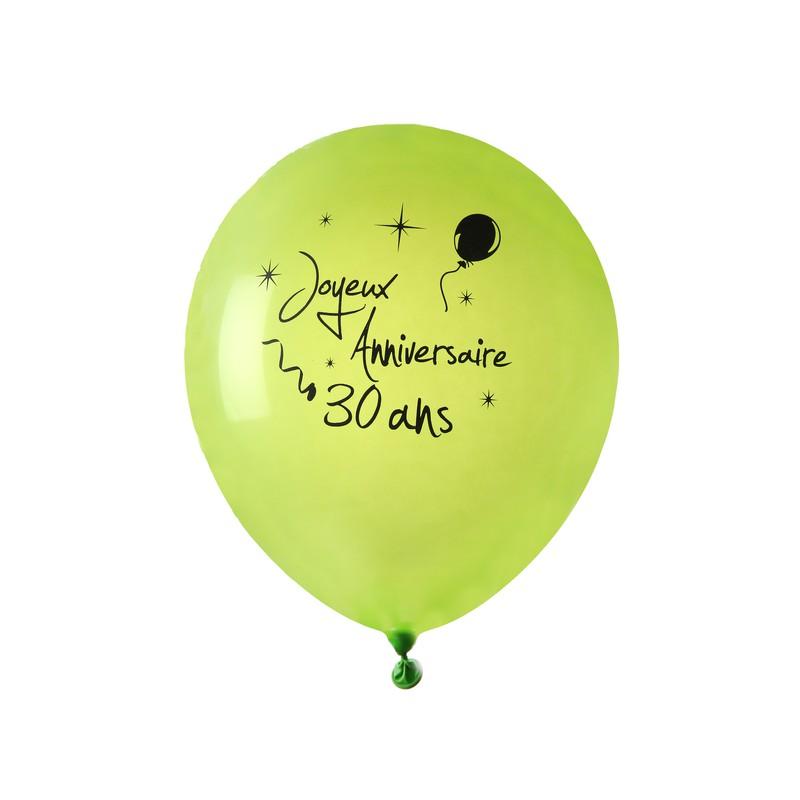 8 Ballons Joyeux Anniversaire 30 Ans Fête La Déco