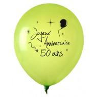 8 Ballons Joyeux Anniversaire 50 ans