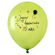 8 Ballons Joyeux Anniversaire 70 ans