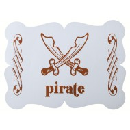 6 Sets de table Pirate