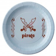 10 Assiettes Pirate