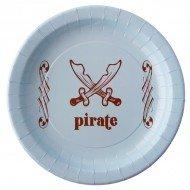 10 Assiettes Pirate