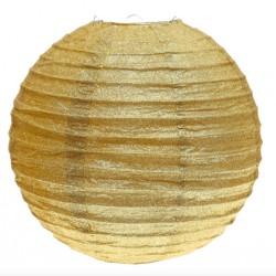 Lanterne pailletée or