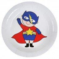 10 Assiettes Super Héros boy