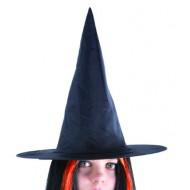 Chapeau sorcière adulte - tissu noir