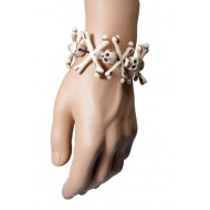 Bracelet têtes de mort et os - plastique