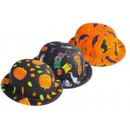 Chapeau plastique melon - halloween - 3 assortis