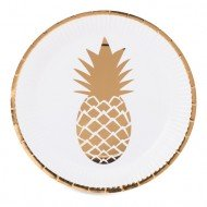 Assiette Ananas Or