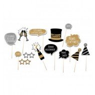 KIT PHOTO BOOTH NOUVEL AN 14PCS
