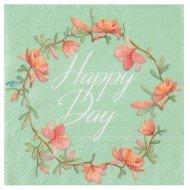 Serviette Happy Day Multicolore
