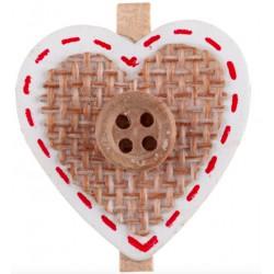 6 Coeurs sur pince