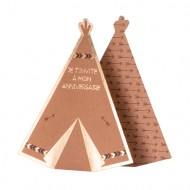 Invitations Tipi Indian Forest