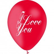Ballons I Love You Rouge x 10