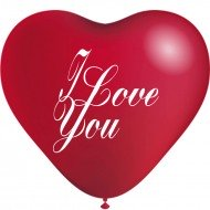 Ballons Coeur Pm I Love You Rouge x 10