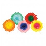 Evantails Multicolores Assortis 15cm