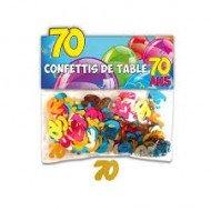 Confettis de Table 70ans Multicolore