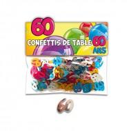 Confettis de Table 60ans Multicolore