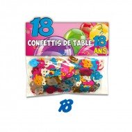 Confettis de Table 18ans Multicolore