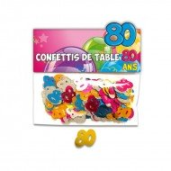 Confettis de Table 80ans Multicolore