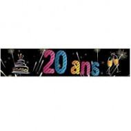 Bannière Métallisée 20ans