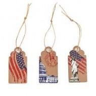 Etiquettes USA avec Oeillet