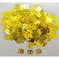 Confettis de Table Anniversaire Or 50ans