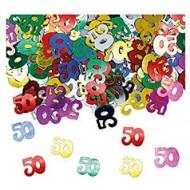 Confettis de Table 50ans Multicolore