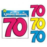 3 Stickers Décoratifs 70