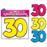 3 Stickers Décoratifs 30