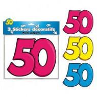 3 Stickers Décoratifs 50